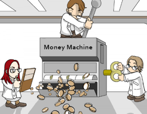 Imag 'borrowed' from http://chrisankele.com/12-ways-to-become-a-money-making-machine/